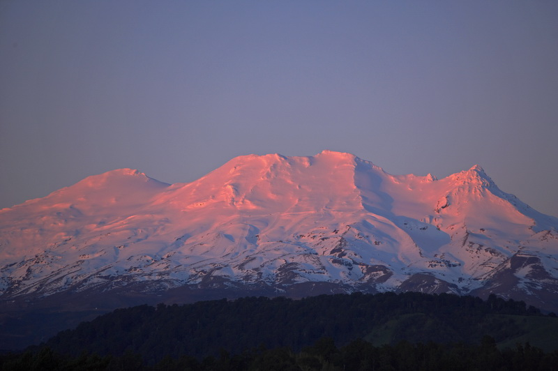 Turoa Ski Area at Sunset